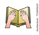 gold color open book   female... | Shutterstock .eps vector #721845619