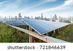 urban background solar panels ... | Shutterstock . vector #721846639