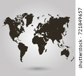 world map | Shutterstock .eps vector #721849657
