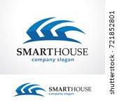 smart house logo template... | Shutterstock .eps vector #721852801