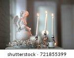Angel Figurine  Candle Holder...