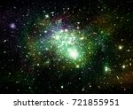stars  dust and gas nebula in a ... | Shutterstock . vector #721855951