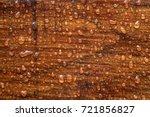 Water Drops On A Wooden Surface....