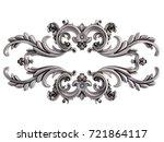 chrome ornament on a white... | Shutterstock . vector #721864117