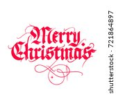 merry christmas  vintage gothic ... | Shutterstock .eps vector #721864897