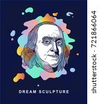 benjamin franklin. dream... | Shutterstock .eps vector #721866064
