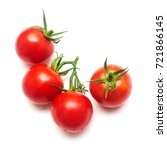 tomatoes of whole isolated on... | Shutterstock . vector #721866145