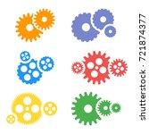 gear icons set. machine gear...   Shutterstock . vector #721874377