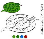 color me  viper. little cute... | Shutterstock .eps vector #721879651
