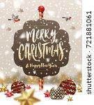vector illustration. baubles ...   Shutterstock .eps vector #721881061