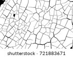 cracked paint craquelure... | Shutterstock .eps vector #721883671