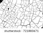 cracked paint craquelure... | Shutterstock .eps vector #721883671