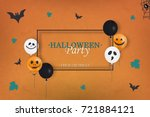 halloween party. trick or treat.... | Shutterstock .eps vector #721884121