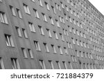 Small photo of large gray building on the outskirts of the Eastern Europe city