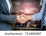 closeup of business people... | Shutterstock . vector #721885087