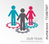 vector our company team icon... | Shutterstock .eps vector #721887007