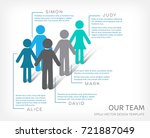 vector infographic our team... | Shutterstock .eps vector #721887049
