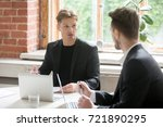 two young executive employees... | Shutterstock . vector #721890295