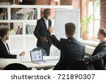 employee raises hand to ask... | Shutterstock . vector #721890307
