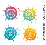 different sale tags isolated on ... | Shutterstock .eps vector #721893979