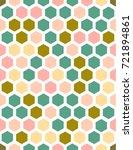 hexagonal multicolored bright... | Shutterstock .eps vector #721894861