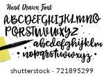 vector alphabet. exclusive... | Shutterstock .eps vector #721895299