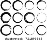 grunge post stamps collection ... | Shutterstock .eps vector #721899565