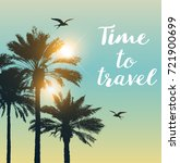 travel background with... | Shutterstock .eps vector #721900699
