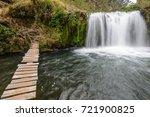 molinuco waterfalls at pita... | Shutterstock . vector #721900825