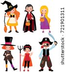 set fabulous halloween... | Shutterstock .eps vector #721901311