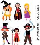 set fabulous halloween... | Shutterstock .eps vector #721901311