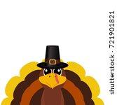 turkey pilgrimin on... | Shutterstock . vector #721901821