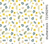 cute floral seamless pattern... | Shutterstock .eps vector #721902991