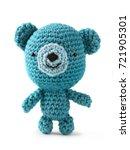 crocheted amigurumi toy... | Shutterstock . vector #721905301