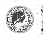 rock climbing club badge.... | Shutterstock .eps vector #721906177
