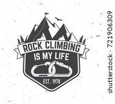 Rock Climbing Is My Life Badge...
