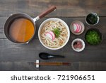 ingredients for udon noodle | Shutterstock . vector #721906651