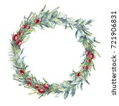 christmas botany illustration.... | Shutterstock . vector #721906831