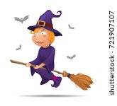 vector illustration halloween ... | Shutterstock .eps vector #721907107