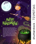 vector illustration halloween ... | Shutterstock .eps vector #721907161