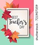 happy teacher's day   unique... | Shutterstock .eps vector #721907359
