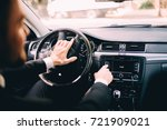 car dashboard. radio closeup.... | Shutterstock . vector #721909021