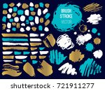set stroke spot. brush  pen ... | Shutterstock .eps vector #721911277