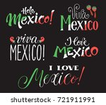 mexico wording isolated on... | Shutterstock .eps vector #721911991