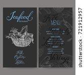 vintage restaurant menu... | Shutterstock .eps vector #721912957