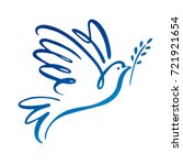 Dove Of Peace Icon. Flying Bir...