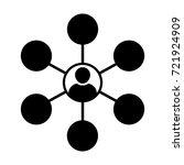 social network icon vector... | Shutterstock .eps vector #721924909