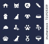 set of 16 animals icons set... | Shutterstock .eps vector #721925359