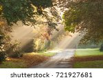 Rural Public Road With Shafts...