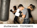 young man practicing some... | Shutterstock . vector #721928851